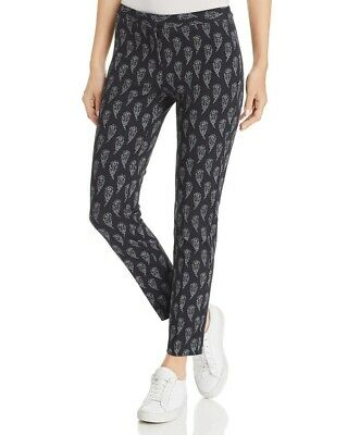Le Gali Womens Black Pants Fawn Printed Straight Leg Business Casual NWT $129