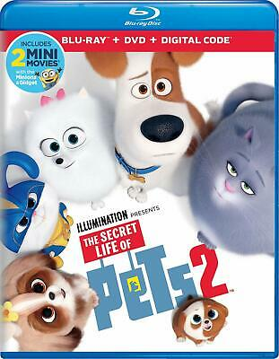 The Secret Life of Pets 2 (Blu-ray+DVD+UV, 2019) New Release