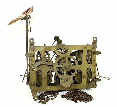 QUAILER CUCKOO CLOCK MOVEMENT - HUBERT HERR w/NICE WOODEN BIRD - GG381