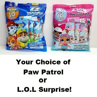 Paw Patrol Mini Play Packs Party Favors