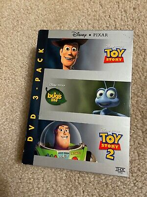 Disney Pixar (3-DVD-Box-Set!!) Toy Story & Toy Story 2 & A Bug's Life boxed pack