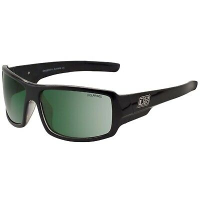 Dirty Dog Bubba SHINY BLACK GREEN Polarised Sunglasses - SAVE 60% OFF RRP