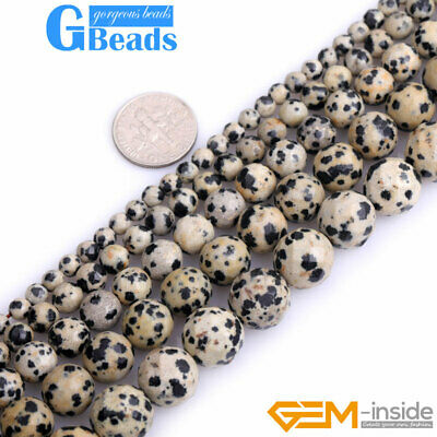 "Natural Dalmatian Jasper Facted  Round Beads Free Shipping 15"" 4mm 6mm 8mm 10mm"