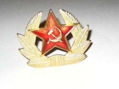 Collectable Vintage Retro Soviet USSR Russian Badge For Lapel or Hat Cap Beret