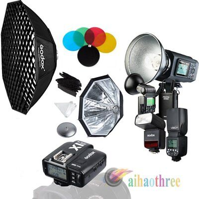 Godox AD600B+AD360IIN+V860IIN+TT350N TTL HSS Flash Trigger Softbox Kit For Nikon