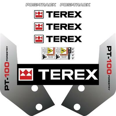 Terex PT100 Forestry Decals Stickers Kit - New Repro Decal tracked loader