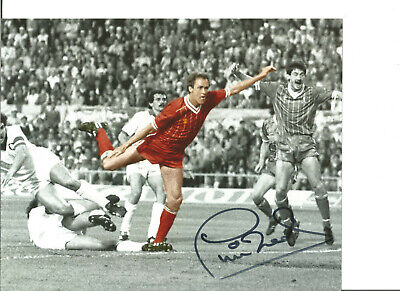 Football Autograph Phil Neal Liverpool FC Signed 10x8 inch Photograph JM158