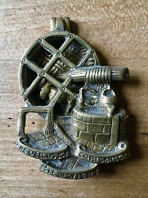 Antique Brass Door Knocker Old Vintage Donkey Carisbrooke Isle Of Wight Small