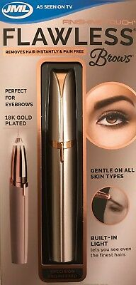 Finishing Touch FLAWLESS Brows 18K Gold Plated Hair Remover - New