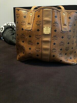 MCM PROJECT VISETOS Reversible Shopper Large Cognac mit