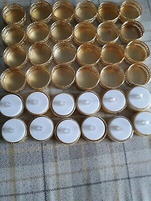 36 Gold Metal T-Lite Holders Wedding/Birthday/Event (without Candles)
