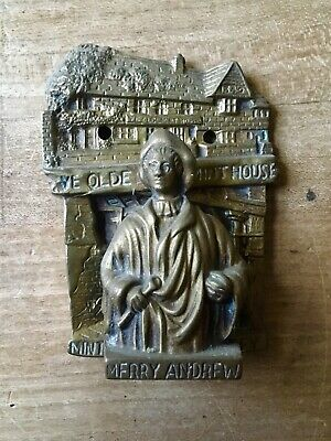 Vintage Brass Door Knocker Merry Andrew Minting Room Pevensey Small Cast Brass