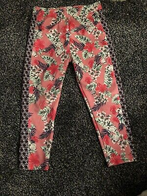 River Island Toddler Girls Flower Floral Pink Leggings 2-3 Years