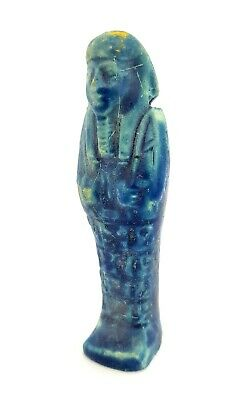 Shabti Egyptian Bc Ancient Faience Rare Ushabti Hieroglyphic Period 664 Late 332