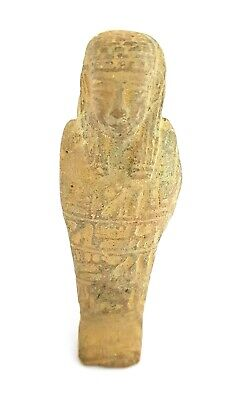 Shabti Egyptian Antique Ushabti 655 Bc Ancient Statue Faience Rare amulet Figure