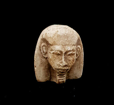 King Egyptian Bust Tut Pharaoh Statue Figurine Ancient Mask Sculpture Antiques