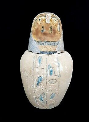 Horus Statue Egyptian Ancient Figurine Sculpture Egypt canopic jars hieroglyphic