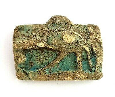 Horus Eye Egyptian Ancient Faience Amulet Egypt Pendant Wedjat Antique Eyes Bc