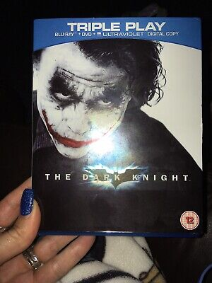 The Dark Knight (Blu-ray and DVD Combo, 2012, 3-Disc Set) Triple Play