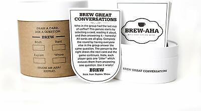 Brew aHa Conversation Starter Card Game For Great Fun With Family and Friends