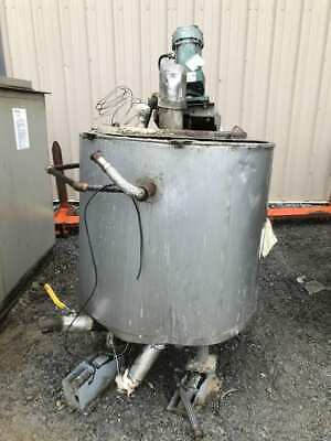 100 Gallon Stainless Steel Jacketed Mixing Tank w/ Lightnin NLD-50 Mixer