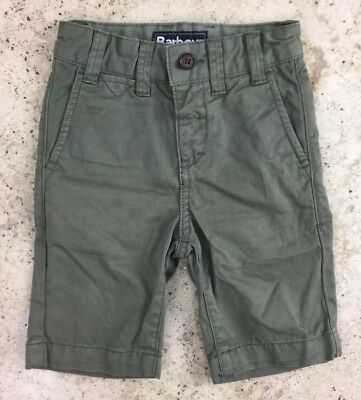 Barbour Boys Xxs Age 2 - 3 Years Khaki Shorts