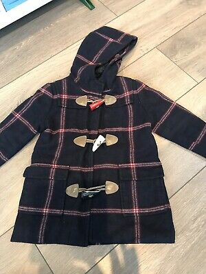 Girls Joules Checked Duffle Coat Age 3 Years