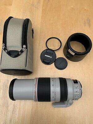 Canon EF 100-400mm f4.5-5.6 L IS II USM zoom lens –USED ONCE + Tiffen UV Filter