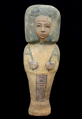 Ushabti Wooden Sculpture Ancient Egypt Antiques Shabti Giant Hieroglyphic Statue