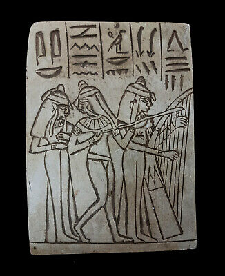 Musicians Relief Egyptian Plaque Sculpture Wall Pharaoh Antiques hieroglyphic