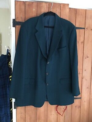 Mens Vintage St Michael Teal Wool And Cashmere Winter Jacket Chest 48 Long