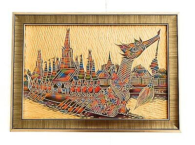 Beautiful Hand Painted Thai Royal Barge Painting