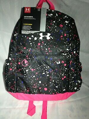 Under Armour Girls' Favorite Backpack - Black/Metallic Silver new with tags