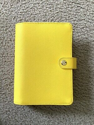 Kikki K Planner Medium Leather Bright Yellow Limited Edition - RARE!