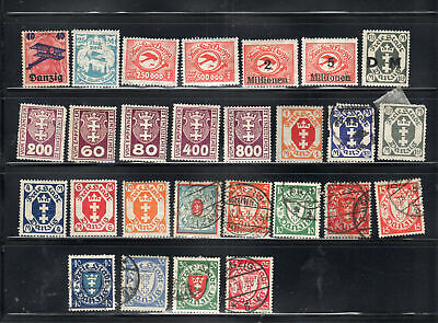Germany Danzig  Stamps Sheet Used & Mint Hinged  Lot 7677