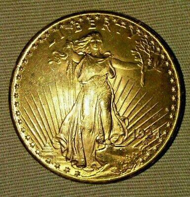 1924 Gold St. Gaudens Double Eagle US $20 Coin