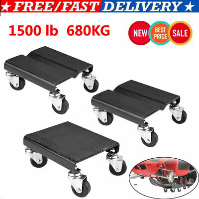 3x Heavy Duty Tire Wheel Dolly Vehicle Snowmobile Moving Dolly 1500LB Capcity