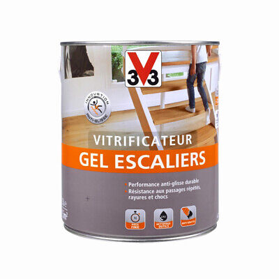 Vitrificateur gel escaliers V33 INCOLORE mat, satin, brillant