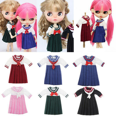 Details about  /Pleated School Uniform Skirt for 1//6 Blythe BJD Dolls Outfits Accessory