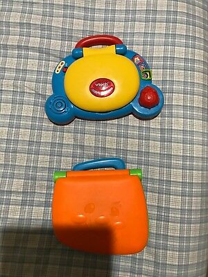 FISHER PRICE laptop & vtech laptop baby computer 2 units