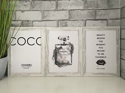 Coco Chanel fashion art picture poster decor kitchen bedroom dressing room A4