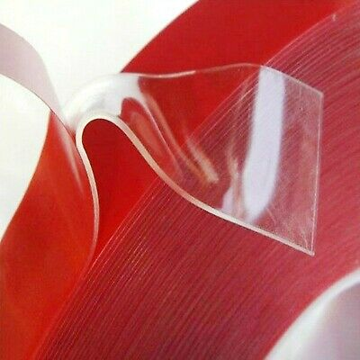 Clear VHB Self Adhesive Sticky TAPE ~ 20mm wide x 1mm thick ~ DOUBLE SIDED Rolls