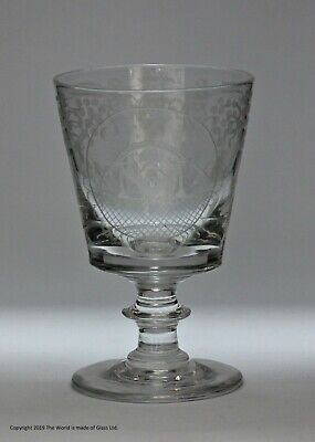 Early Victorian Masonic-engraved rummer
