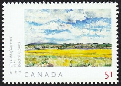 ART CANADA 2006: DOROTHY KNOWLES = THE FIELD OF RAPESEED =stamp fr SS #2147a MNH