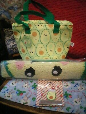 Sass & Belle Happy Avocado Set. Rug..lunch Bag & Decoration New With Tags