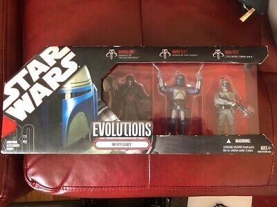 Star Wars Evolutions The Fett Legacy 3 Pack 30Th Anniversary 2007 New Sealed