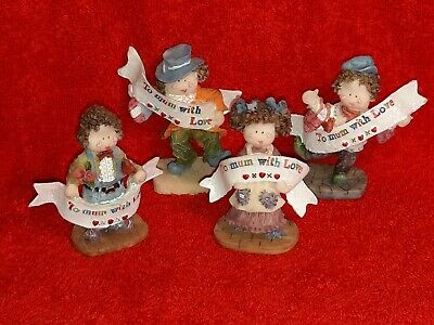 4 Cute Mini To Mum with Love Ornaments