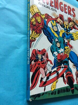 AVENGERS #1976 UK ANNUAL HC (1976 Excellent Clean Condition No Rips Or Tears