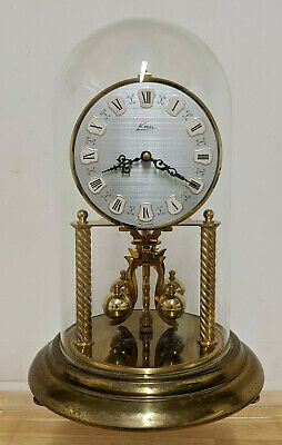 Vintage KERN Dome Anniversary 400 day Torsion Clock Wind Up Mechanical W Germany