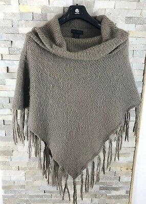 LADIES KNITTED PONCHO KAREN SCOTT L//XL STUNNING BLACK SUPER SOFT BNWT